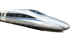 High speed train isolated Royalty Free Stock Photography