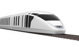 High Speed Train Isolated. On white background. 3D render Stock Photos