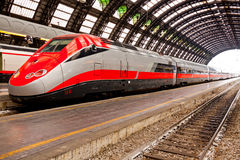 High speed train in Italy Royalty Free Stock Photo