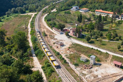 High-speed train line. Watch when things look from a height otherwise Stock Photos