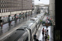 High speed train in Madrid stock photo