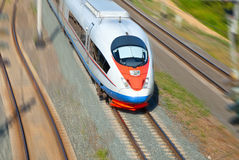 High-speed  train in motion Royalty Free Stock Photo