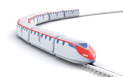 High speed train. My own design. Over white Royalty Free Stock Images
