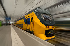 High-speed train in Netherlands Royalty Free Stock Photography