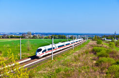 High speed train in open area Royalty Free Stock Photography