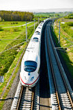High speed train in open area Royalty Free Stock Image