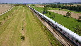 High speed train passing stock video footage