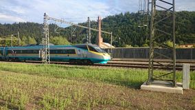 High speed train Pendolino Stock Photo