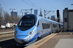 High speed train in Poland Royalty Free Stock Image