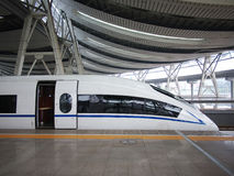 High Speed Train,Railway. High-speed train in Beijing,China royalty free stock images