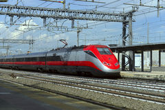 High-speed train at the railway station Royalty Free Stock Photos