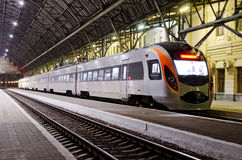 High-speed train at the railway station Royalty Free Stock Images