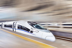 High speed train at the railways station. Modern high speed train at the railways station Stock Photos