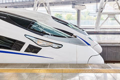 High speed train at the railways station. Royalty Free Stock Photos
