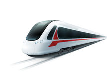 High-Speed Train Realistic  Image Stock Photography