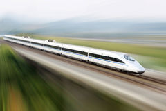 High speed train. A running high speed train which made in China royalty free stock photos