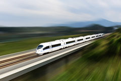 High speed train. A running high speed train which made in China stock images