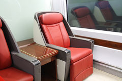 High-speed train seats Royalty Free Stock Images