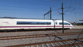 High-speed train in Spain, Figueira Royalty Free Stock Image