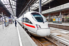 High speed train in station Royalty Free Stock Image