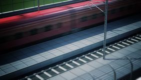 High Speed Train in the Station Royalty Free Stock Image