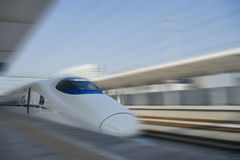 High-speed train. In station Stock Photography