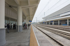 High speed train station Stock Photography
