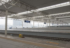 High speed train station Stock Photos