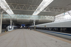 High speed train station Royalty Free Stock Photo