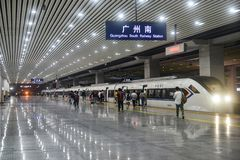 High speed train station in China royalty free stock image