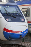 High speed train in station. Close-up photograph of high speed train in station after voyage Royalty Free Stock Photo