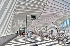 High Speed Train Station in Reggio Emilia, Italy. REGGIO EMILIA, ITALY - August 13, 2013: view of Mediopadana High Speed Train Station in Reggio Emilia, Italy Stock Image