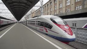 High speed train at the station stock video footage