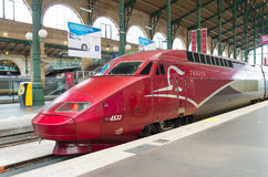 High speed train. Thalys high speed train at Gare du Nord in Paris Royalty Free Stock Photo