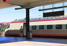 High speed train in Toledo Royalty Free Stock Photography