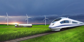 High-speed train. Stock Images