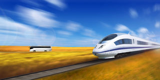 High-speed train. Stock Image