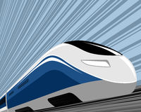 High speed train. Vector illustration of a high speed train Royalty Free Stock Photography