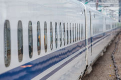 High speed train window Royalty Free Stock Photos