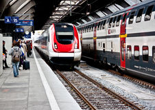 High speed train at Zurich HB train station 2 Stock Image