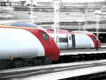 High speed trains royalty free stock images