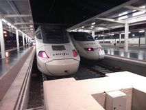 High speed trains at Alicante. Spain. Royalty Free Stock Images