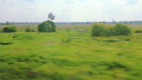 High-speed trains on the fields (POV) Stock Photography