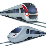 High speed trains, isolatetd on white background. Stock Photography