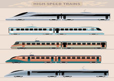 High-speed trains Stock Photo