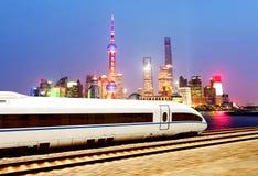 High speed trains in Shanghai Stock Photos