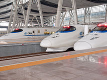 High speed trains at station Royalty Free Stock Photography