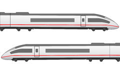 High speed trainset side view Stock Photography