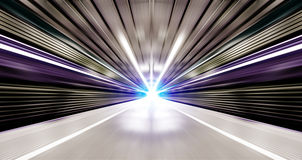 High speed urban. Driving at high speed in subway - motion blur Stock Photos