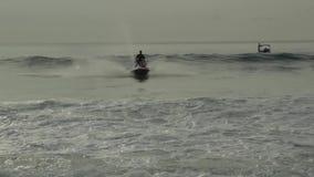 High-speed water bike stock video